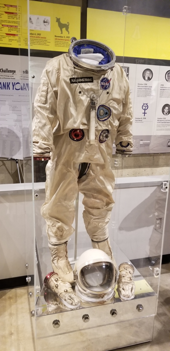 Neil Armstrong's suit from the Gemini program at the Armstrong Air and Space Museum