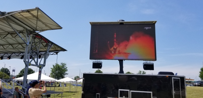 Live feed of a Soyuz launch at the Armstrong Air and Space Museum