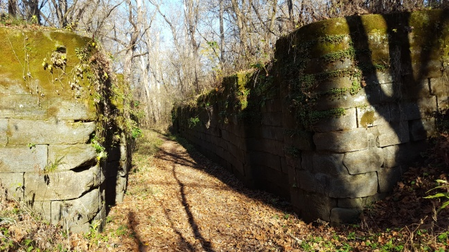 Ohio and Erie Canal lock ruins