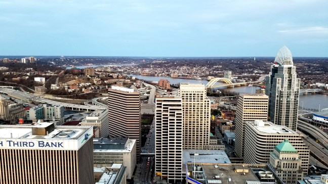 Downtown Cincinnati from the Carew Tower Observation Deck
