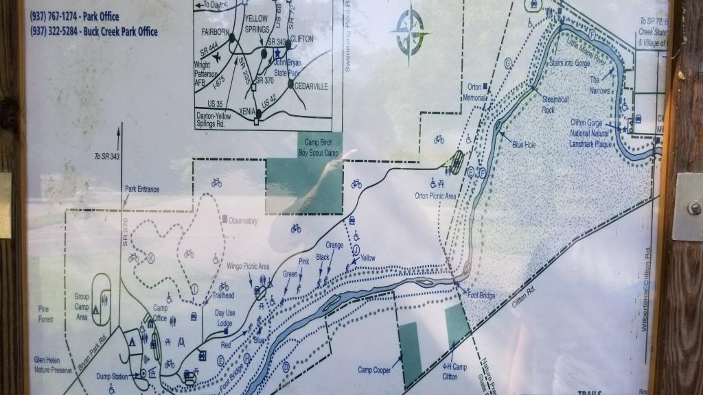 Map of John Bryan State Park